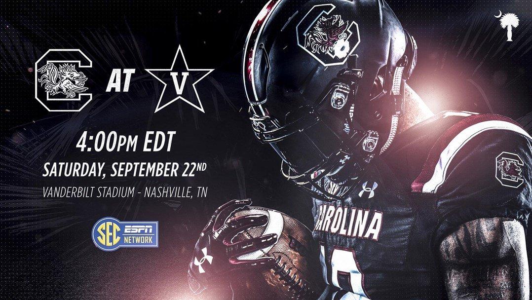 South Carolina vs. Vanderbilt SEC Network to Televise September 22 Contest from Nashville at 4:00 pm ET - Sept. 21, 2018