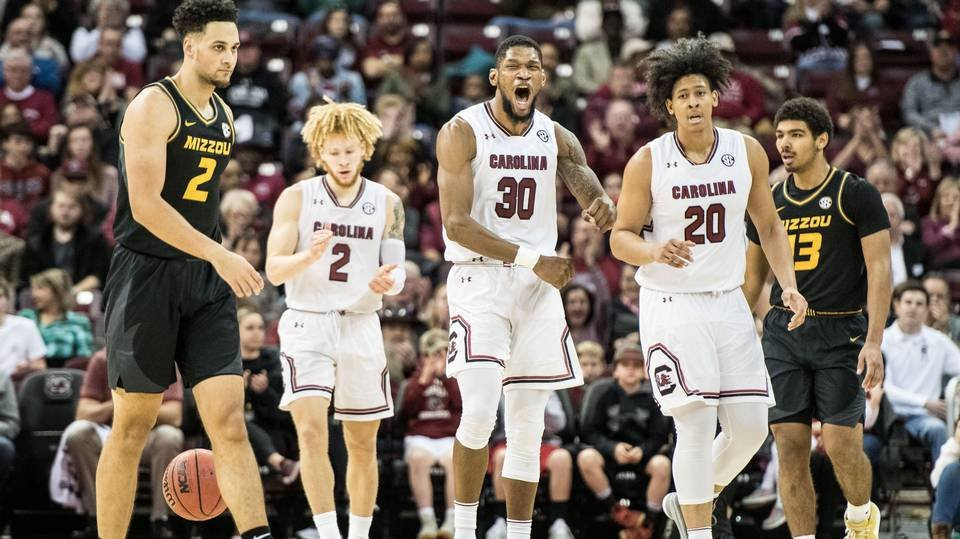 Gamecocks stay perfect in SEC with, 85-75, win over Missouri - January 13, 2019 | GCF Staff Report